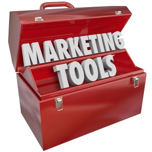 Marketing Skills words in a red metal toolbox to illustrate know